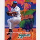 1995 Fleer Baseball #335 Richie Lewis - Florida Marlins