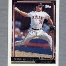 1992 Topps Baseball Gold Winners #523 Shawn Hillegas - Cleveland Indians