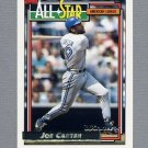 1992 Topps Baseball Gold Winners #402 Joe Carter AS - Toronto Blue Jays