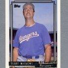 1992 Topps Baseball Gold Winners #131 Terry Mathews - Texas Rangers