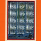 1996 Topps Football #439 Checklist 1 of 2