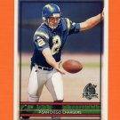 1996 Topps Football #337 Darren Bennett - San Diego Chargers