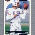 1996 Score Football #176 Chris Chandler - Houston Oilers