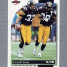 1996 Score Football #049 Carnell Lake - Pittsburgh Steelers