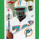 1995 Score Football #142 Richmond Webb - Miami Dolphins