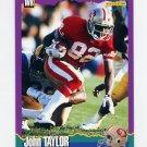 1994 Score Football #068 John Taylor - San Francisco 49ers