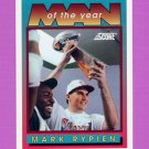 1992 Score Football #534 Mark Rypien MOY - Washington Redskins