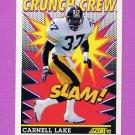 1992 Score Football #519 Carnell Lake CC - Pittsburgh Steelers