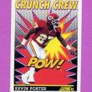 1992 Score Football #518 Kevin Porter CC - Kansas City Chiefs