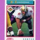 1992 Score Football #485 Ed Cunningham RC - Phoenix Cardinals