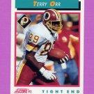1992 Score Football #473 Terry Orr RC - Washington Redskins