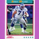 1992 Score Football #468 Bryan Millard - Seattle Seahawks