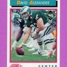 1992 Score Football #467 David Alexander - Philadelphia Eagles
