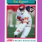 1992 Score Football #453 Tim Barnett - Kansas City Chiefs
