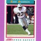 1992 Score Football #446 Eddie Anderson - Los Angeles Raiders