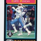 1992 Score Football #422 Curtis Duncan - Houston Oilers