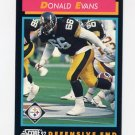 1992 Score Football #414 Donald Evans - Pittsburgh Steelers