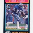 1992 Score Football #393 George Jamison - Detroit Lions