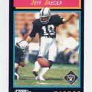 1992 Score Football #386 Jeff Jaeger - Los Angeles Raiders