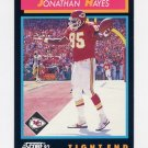 1992 Score Football #357 Jonathan Hayes - Kansas City Chiefs