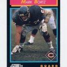 1992 Score Football #354 Mark Bortz - Chicago Bears