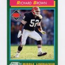1992 Score Football #327 Richard Brown RC - Cleveland Browns