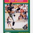 1992 Score Football #274 Scott Fulhage - Atlanta Falcons