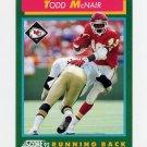 1992 Score Football #226 Todd McNair - Kansas City Chiefs
