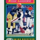 1992 Score Football #224 Reggie Langhorne - Cleveland Browns