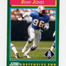 1992 Score Football #222 Sean Jones - Houston Oilers