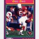 1992 Score Football #215 Greg Davis - Phoenix Cardinals