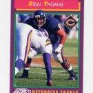 1992 Score Football #206 Stan Thomas - Chicago Bears