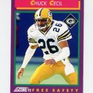 1992 Score Football #164 Chuck Cecil - Green Bay Packers