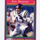 1992 Score Football #160 Joey Browner - Minnesota Vikings