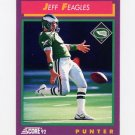 1992 Score Football #134 Jeff Feagles - Philadelphia Eagles