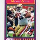 1992 Score Football #126 Michael Carter - San Francisco 49ers