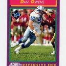 1992 Score Football #122 Dan Owens - Detroit Lions