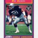 1992 Score Football #118 Riki Ellison - Los Angeles Raiders