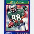 1992 Score Football #104 Keith Jackson - Philadelphia Eagles