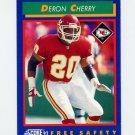1992 Score Football #101 Deron Cherry - Kansas City Chiefs