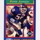 1992 Score Football #077 Pepper Johnson - New York Giants
