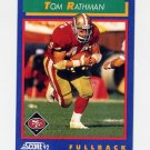 1992 Score Football #055 Tom Rathman - San Francisco 49ers
