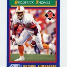 1992 Score Football #043 Broderick Thomas - Tampa Bay Buccaneers