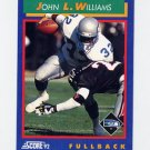 1992 Score Football #042 John L. Williams - Seattle Seahawks