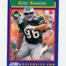 1992 Score Football #034 Clyde Simmons - Philadelphia Eagles