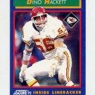1992 Score Football #032 Dino Hackett - Kansas City Chiefs