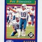 1992 Score Football #029 Pete Stoyanovich - Miami Dolphins