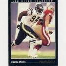 1993 Pinnacle Football #320 Chris Mims - San Diego Chargers Ex