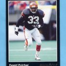 1993 Pinnacle Football #178 David Fulcher - Cincinnati Bengals