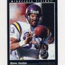 1993 Pinnacle Football #123 Steve Jordan - Minnesota Vikings Ex